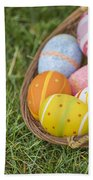 Easter Eggs Beach Towel