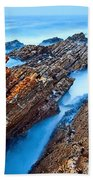 Eternal Tides - The Strange Jagged Rocks And Cliffs Of Montana De Oro State Park In California Beach Towel