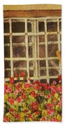 Farm Window Beach Towel