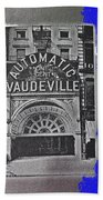 Film Homage Automatic 1 Cent Vaudeville Peep Show Arcade C.1890's New York City Collage 2013 Beach Towel