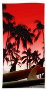 Fins N' Palms Beach Towel by Sean Davey