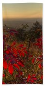Fire On The Mountain Beach Towel by Debra and Dave Vanderlaan