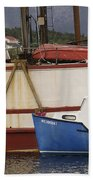 2 Fishing Boats At The Dock Beach Towel