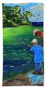 Fishing Buddies Beach Towel
