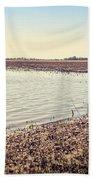 Flooded Farmland Beach Towel