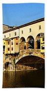 Florence Italy Ponte Vecchio Beach Towel