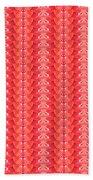 Flower Petal Petal Art From Cherryhill Nj America Micro Patterns Red Color Tones Light Shades Beach Towel
