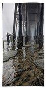 Fog At The Pier Beach Towel