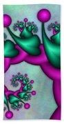 Fractal Neon Catwalk Beach Sheet