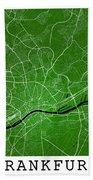 Frankfurt Street Map - Frankfurt Germany Road Map Art On Colored Beach Towel
