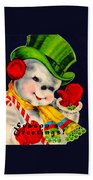 Frosty The Snowman Beach Towel