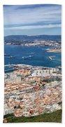 Gibraltar City And Bay Beach Towel