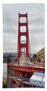 Golden Gate Bridge - San Francisco California Beach Towel