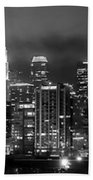 Gotham City - Los Angeles Skyline Downtown At Night Beach Towel