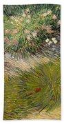 Grass And Butterflies Beach Towel