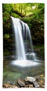 Grotto Falls Beach Towel by Frozen in Time Fine Art Photography