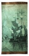 Grungy Historic Seaport Schooner Beach Towel
