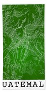 Guatemala Street Map - Guatemala City Guatemala Road Map Art On  Beach Towel