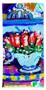 Heart Roses And Tiara Beach Towel