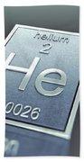 Helium Chemical Element Beach Towel