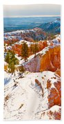 High Angle View Of Rock Formations Beach Towel