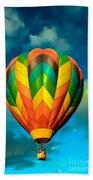 Hot Air Balloon Beach Towel by Robert Bales