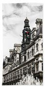 Hotel De Ville In Paris Beach Towel by Elena Elisseeva