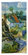 Houses At Auvers Beach Towel