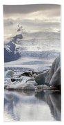 iceland Jokulsarlon Beach Towel