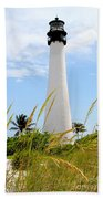 Key Biscayne Lighthouse Beach Towel