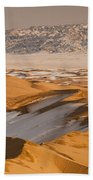 Khongor Sand Dunes In Winter Gobi Desert Beach Towel
