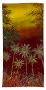 La Jungla Rossa Beach Towel