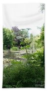 Lily Pond In Monets Garden Beach Towel