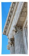 Lincoln County Courthouse Columns Looking Up 02 Beach Towel