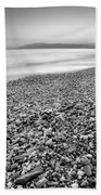 Little Stones At The Silver Sea Beach Towel