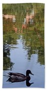 Living In Reflections Beach Towel