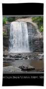 Looking Glass Falls North Carolina Beach Towel