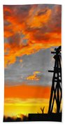 Lubbock Skyline Beach Towel