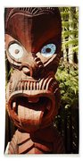 Maori Carving Beach Towel