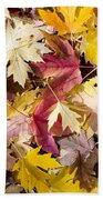 Maple Leaves Beach Sheet