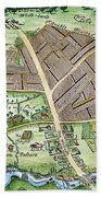 Medieval English Manor Beach Towel
