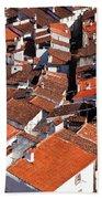 Medieval Town Rooftops Beach Sheet