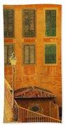 Medieval Windows Beach Towel