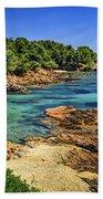 Mediterranean Coast Of French Riviera Beach Towel by Elena Elisseeva
