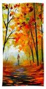 Melody Of Autumn Beach Towel