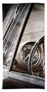 Mercedes-benz 250 Se Steering Wheel Emblem Beach Towel
