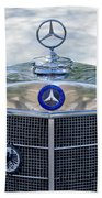 Mercedes-benz Hood Ornament Beach Towel