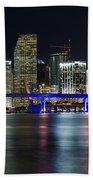 Miami Downtown Skyline Beach Towel