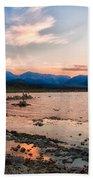 Mono Lake Sunset Beach Towel