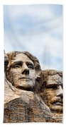 Mount Rushmore Monument Beach Towel